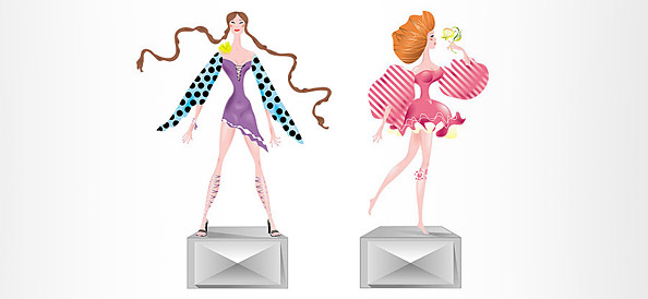 Female Fashion Vector Characters