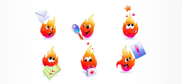 Fire Cartoon Characters