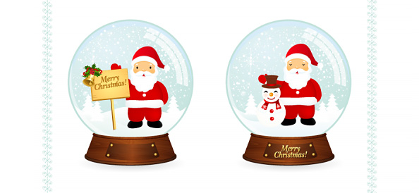 Free Christmas Snowball Vector Illustrations