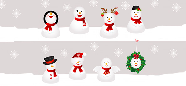 Free Snowman Vector Illustrations