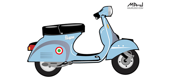 Free Vector Scooter Illustration - Vector Characters