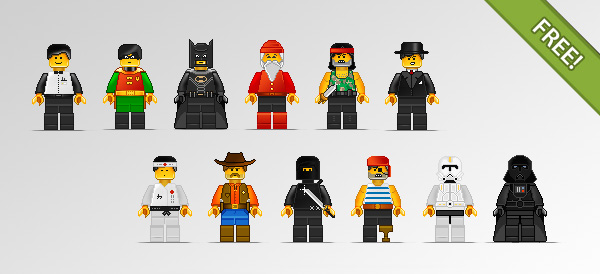 Lego Character Illustrations