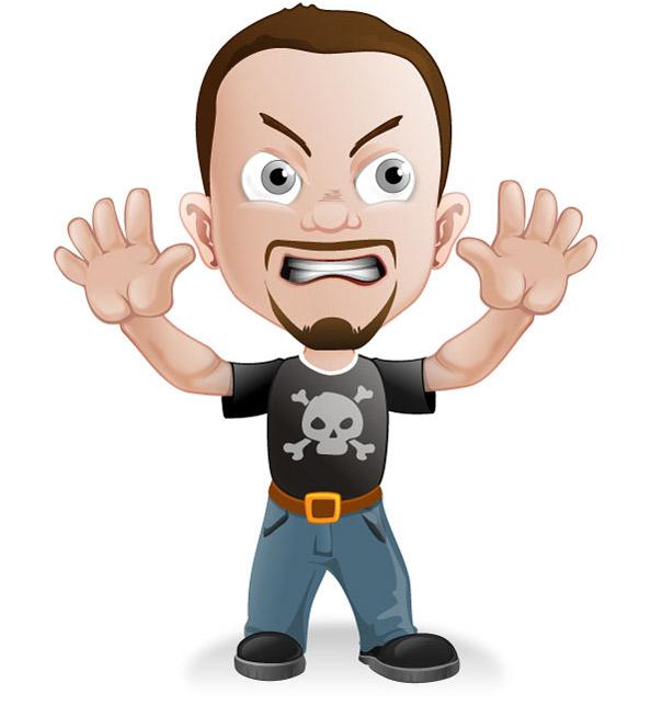 Cartoon Characters Boy : Bad boy vector character characters