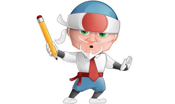 Business Ninja Cartoon Character Preview Big