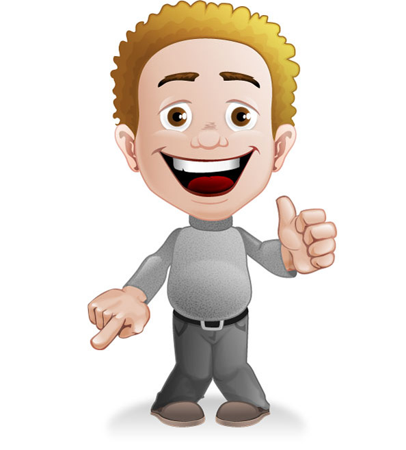 Cartoon Characters With Curly Hair : Curly haired boy vector character characters