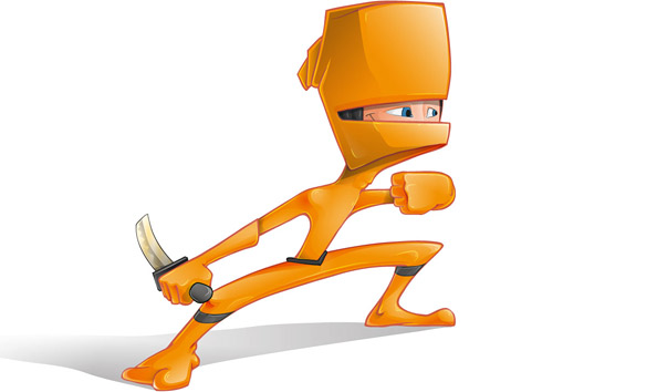 Free Ninja VectorCharacter Illustration Preview Big