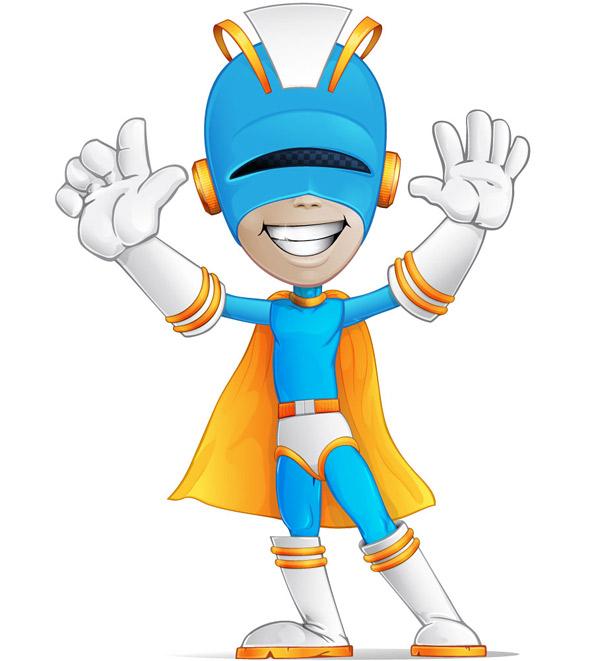 Superhero Vector Character  Vector Characters