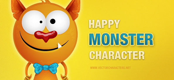 Happy Monster Vector Character