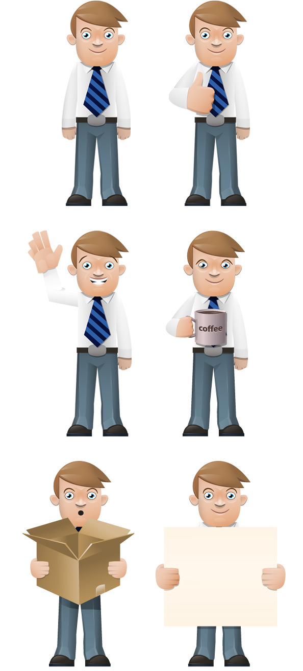 boy vector character set vector characters