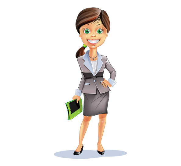 Attractive_Business_Woman_Vector_Charact