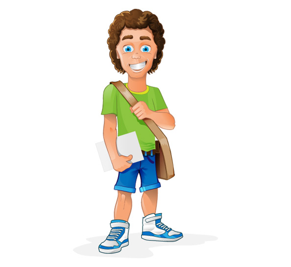 Student Vector Character Vector Characters