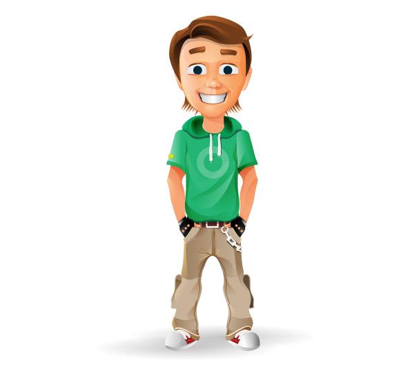 Cartoon Characters Boy : Smiling boy vector character characters