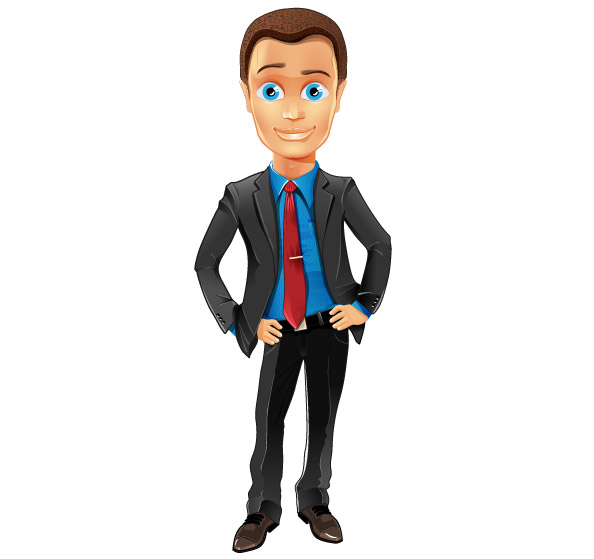 Cartoon Characters Guys : Fashionable business guy vector character characters