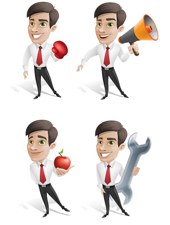 Free Businessman Vector Character Set