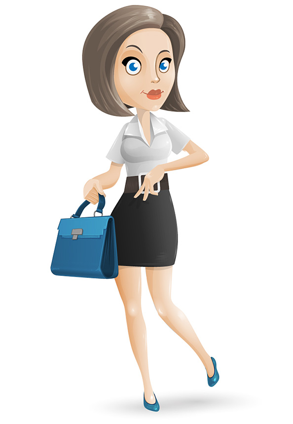 Free Businesswoman Vector Character - Vector Characters