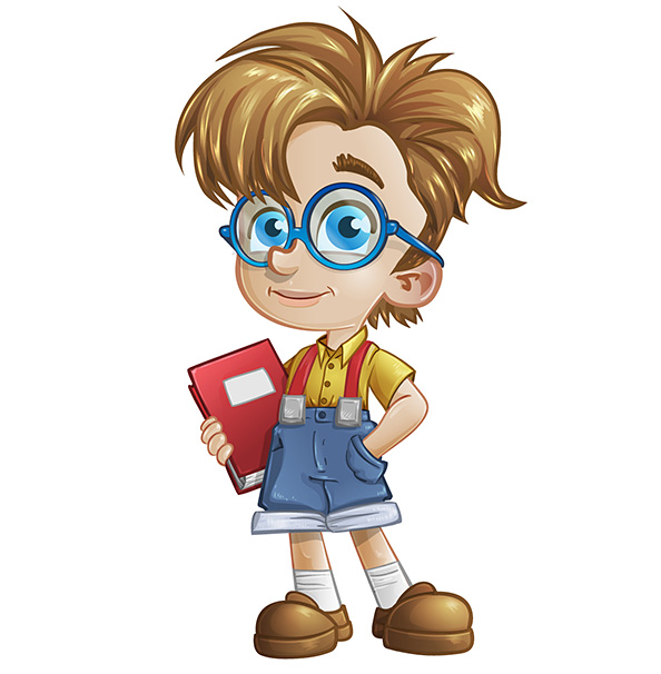 Cartoonsmart Character Design Illustrator : Geek boy vector character characters