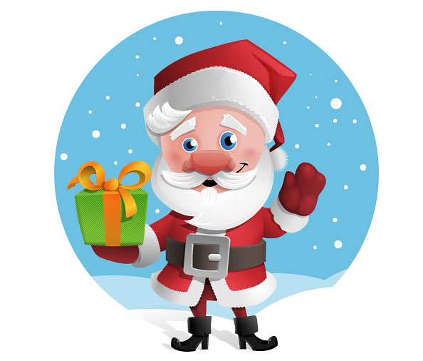 free santa claus vector character vector characters - Free Santa Claus Pictures