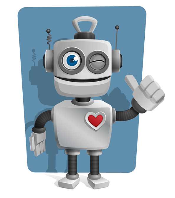 robot vector character with thumbs up vector characters dance vector dancing vector images