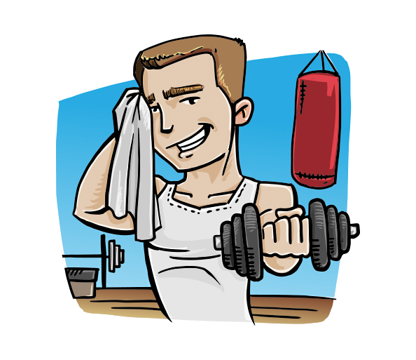 fitness animated clipart - photo #35