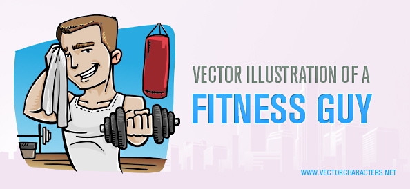 Vector Illustration of a Fitness Guy