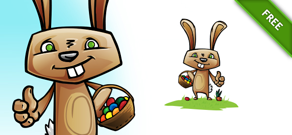 Free Easter Rabbit Vector Illustration