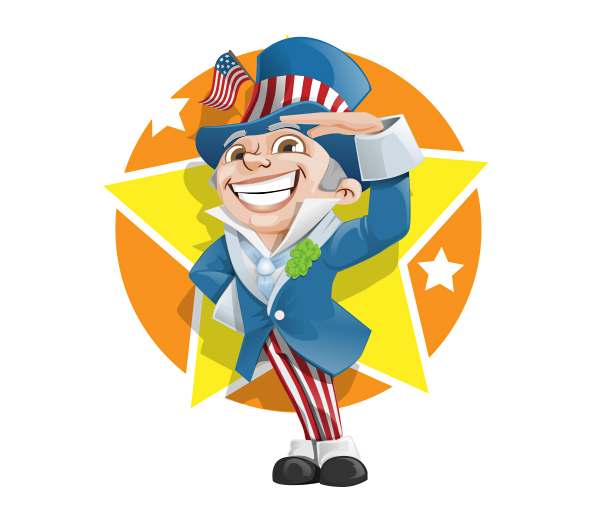 Designall20 July 2012: 4th Of July Vector Character